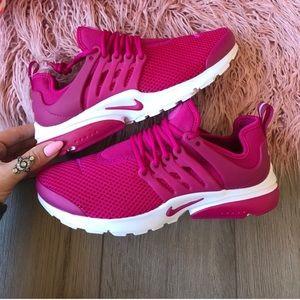 Fuchsia Nike Presto Sneakers